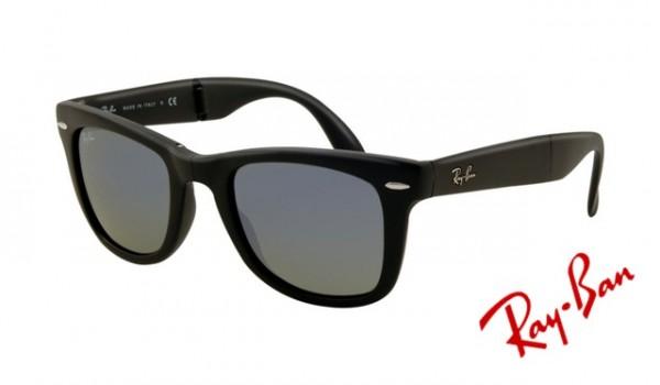 9be9257a905 Knockoff Ray Ban RB4105 Folding Wayfarer Sunglasses Matte Black Frame